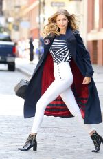 GIGI HADID on the Set of a Photoshoot in New York 07/12/2016