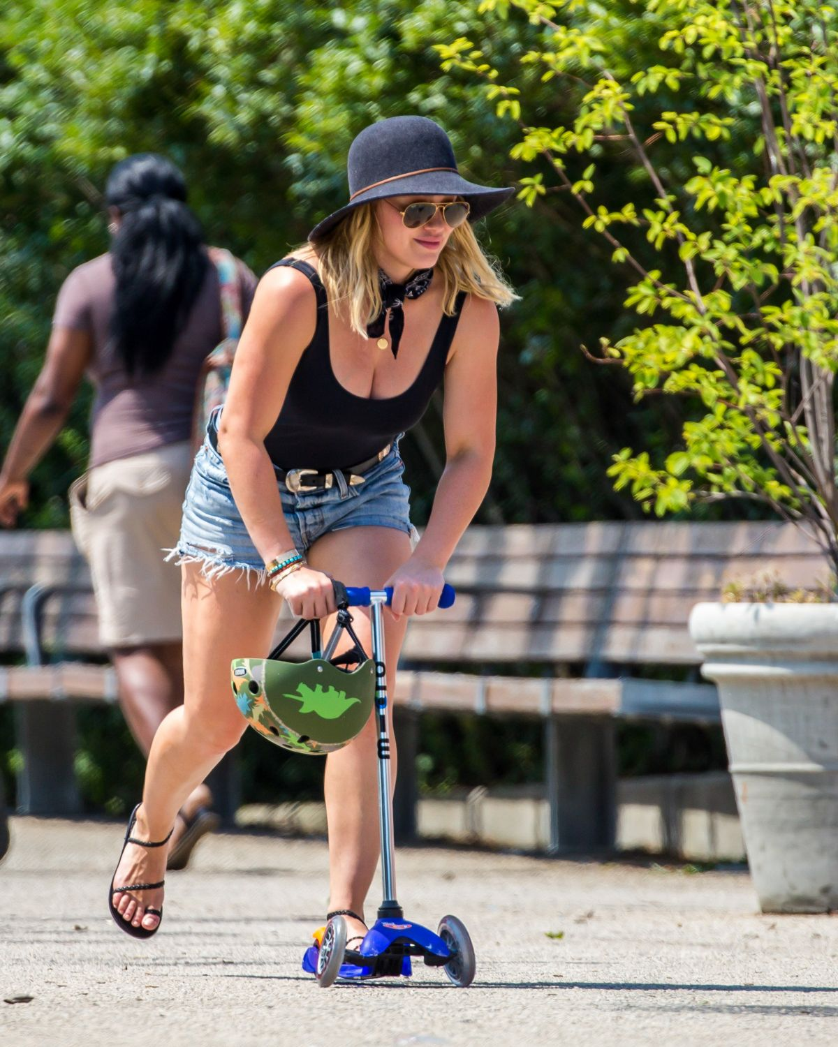 Hilary Duff At A Park In New York 07 22 2016 Hawtcelebs