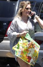 HILARY DUFF Out and About in Studio City 07/04/2016