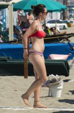 AURORA HUNZIKER-RAMAZZOTTI in Bikini on the Beach in Forte Dei Marmi 07/08/2016