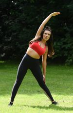 IMOGEN TOWNLEY Woirking Out at a Park in Manchester 07/24/2016