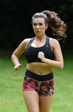IMOGEN TOWNLEY Working Out at a Park in Manchester 07/21/2016