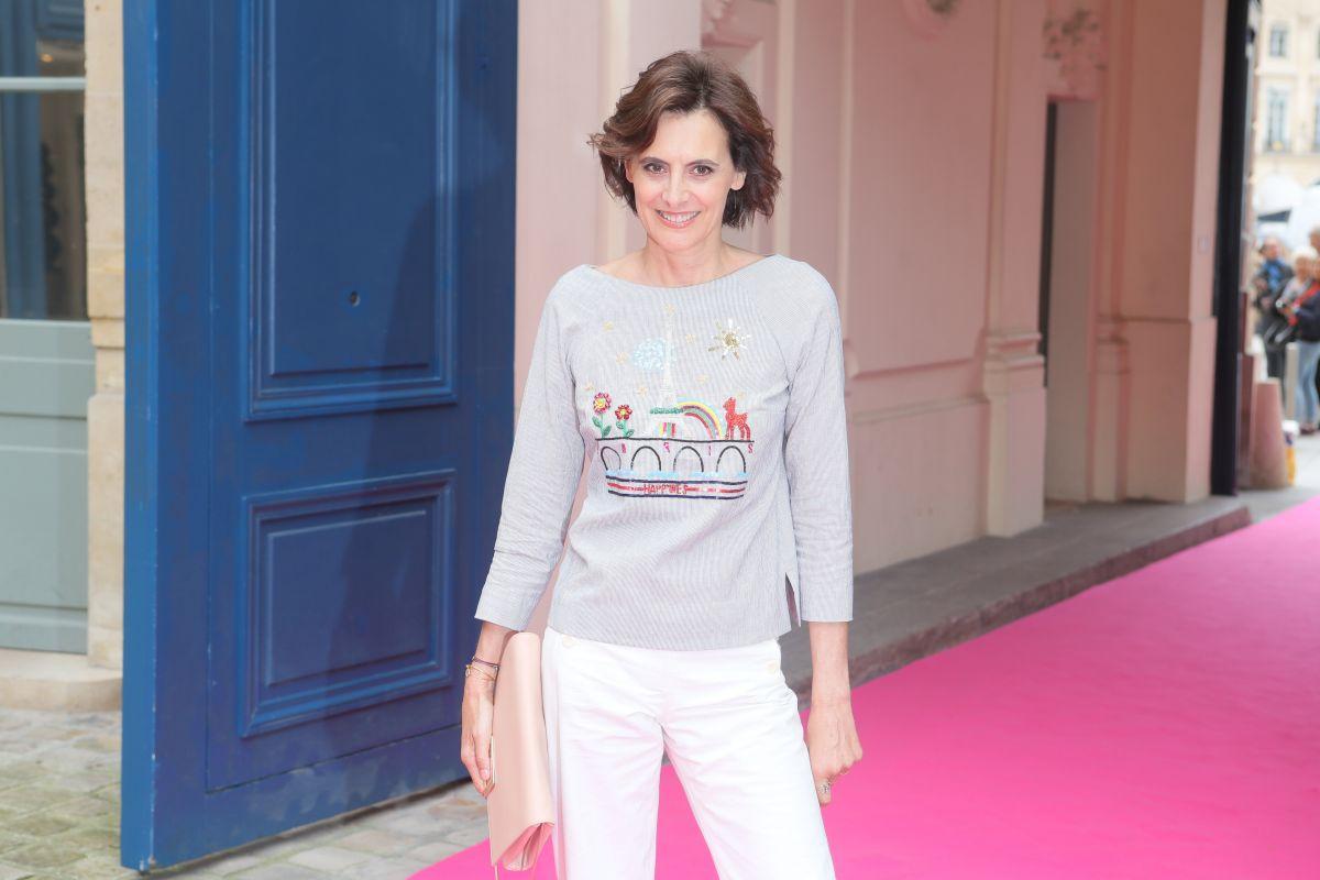 INES DE LA FRESSANGE at Schiaparelli Haute-couture Fashion Show in Paris 07/04/2016