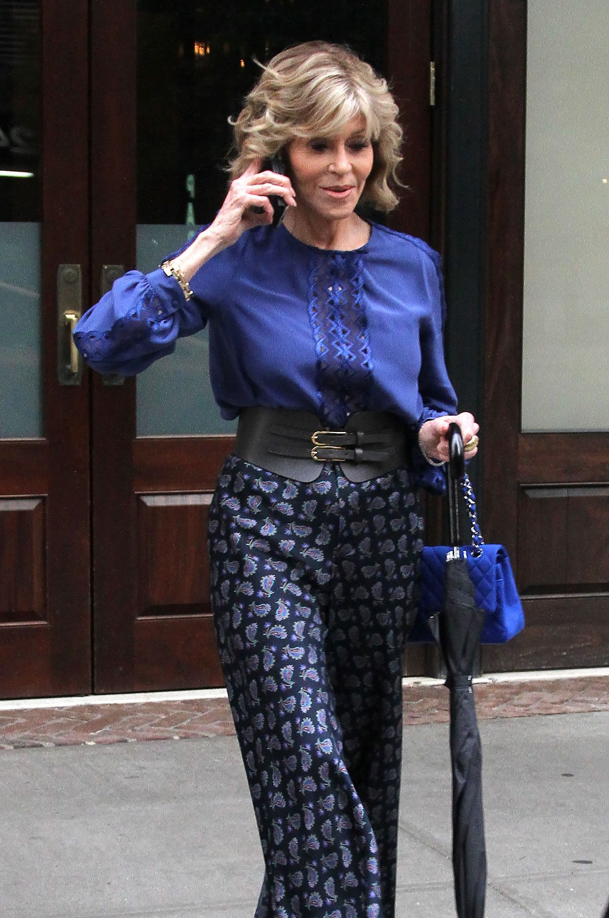 JANE FONDA Out and About in New York 07/07/2016