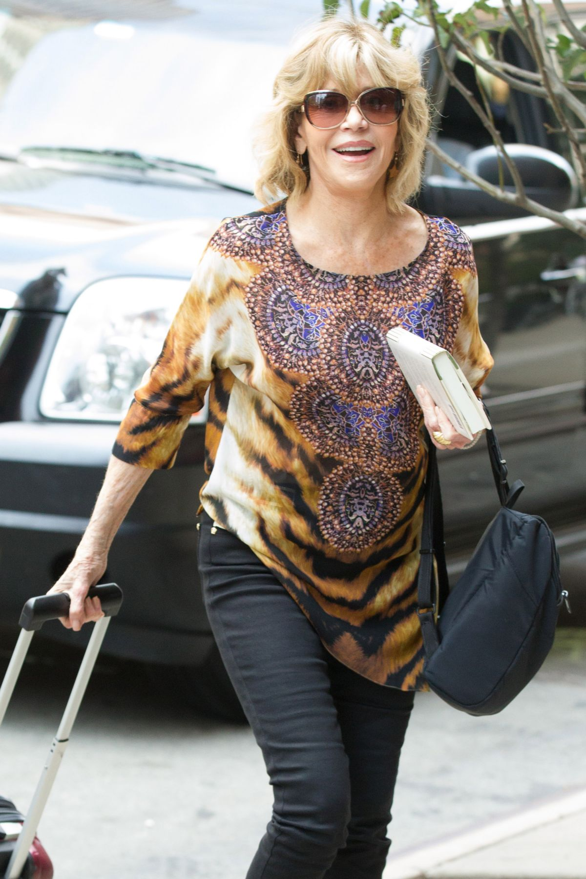 JANE FONDA Out and About in New York 07/08/2016
