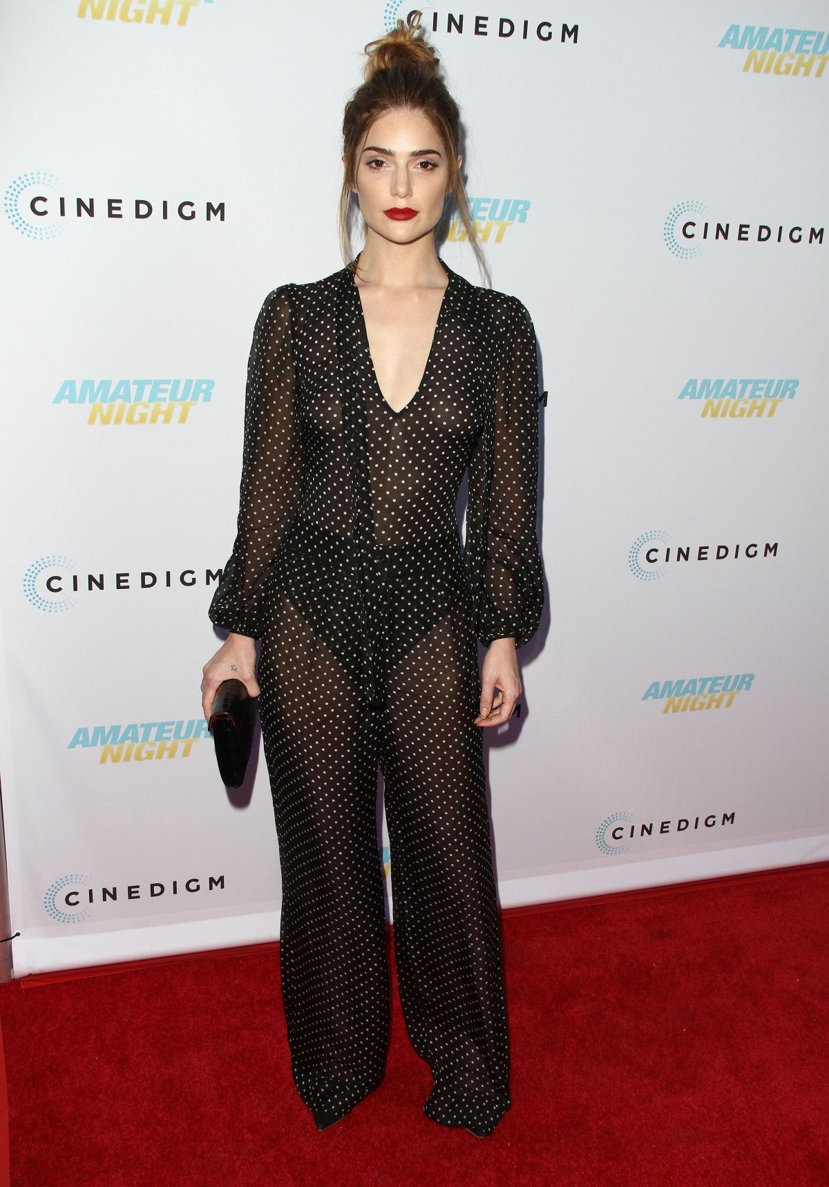 JANET MONTGOMERY at Amateur Night Premiere in Hollywood 07/25/2016