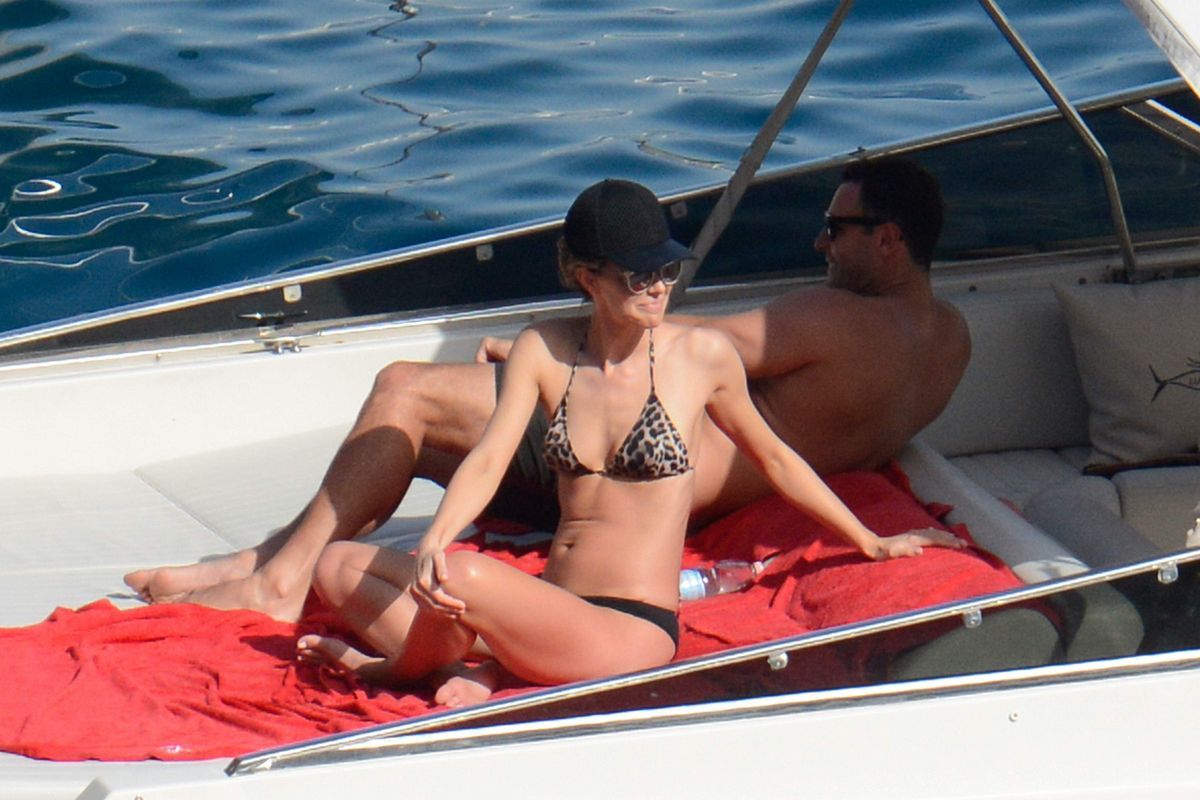 JENNIFER KAWKINS in Bikini at a Yacht in Capri 07/22/2016