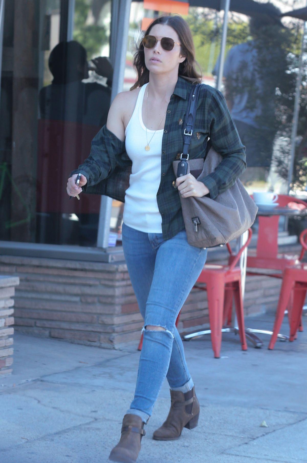 JESSICA BIEL in Jeans Out in Santa Monica 07/15/2016