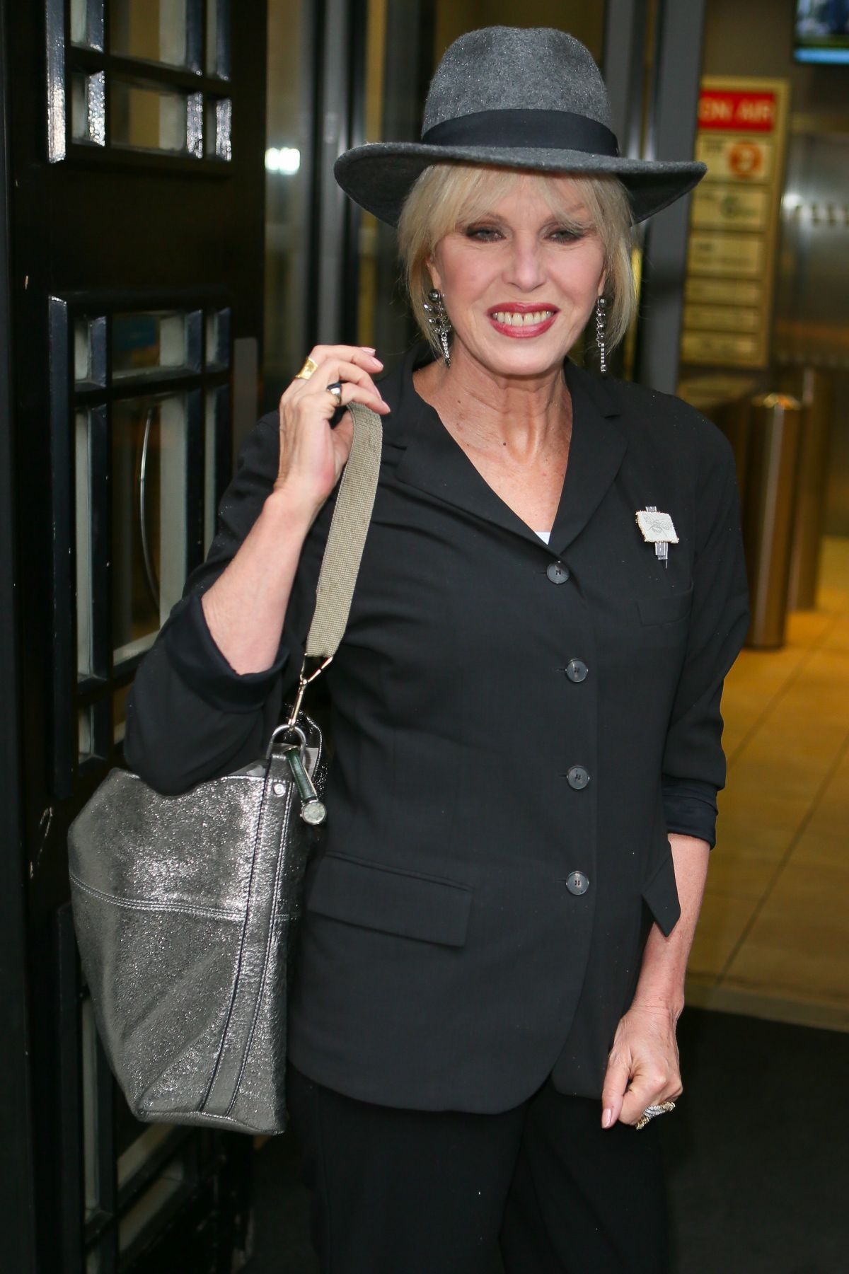 JOANNA LUMLEY Arrives at BBC Radio 2 Studios in London 07/01/2016