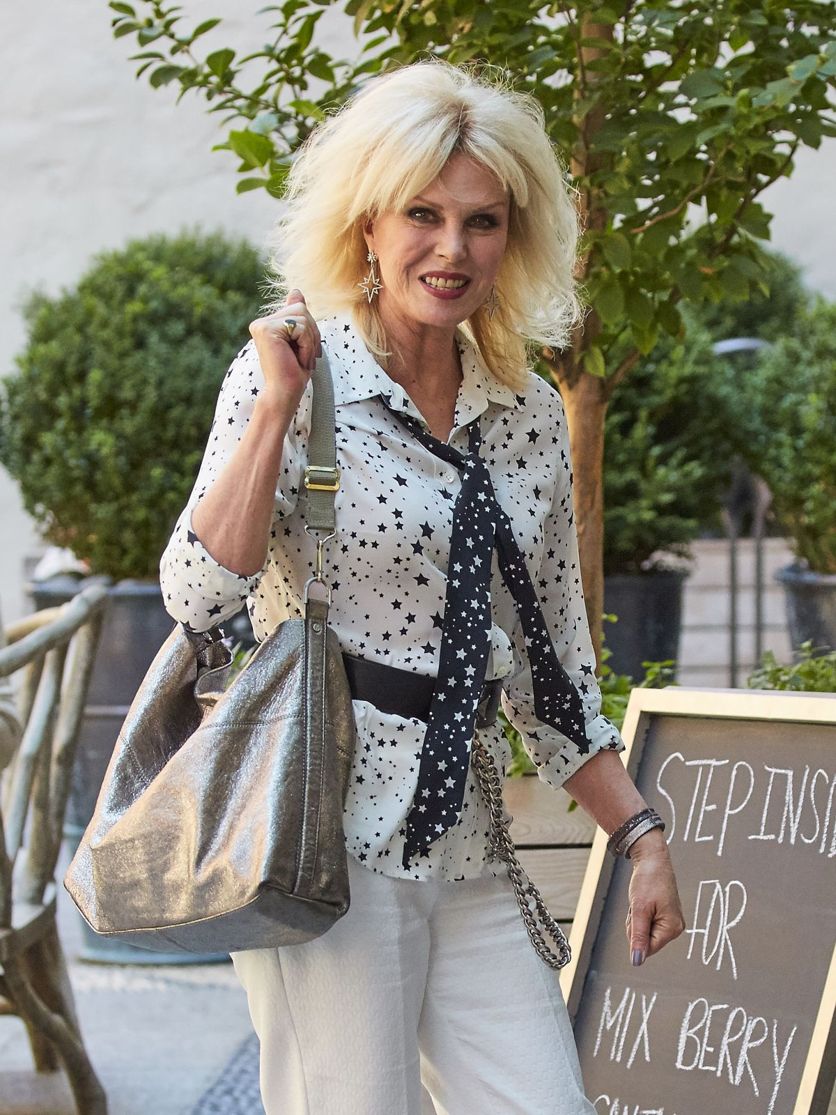 JOANNA LUMLEY Out and About in New York 07/19/2016