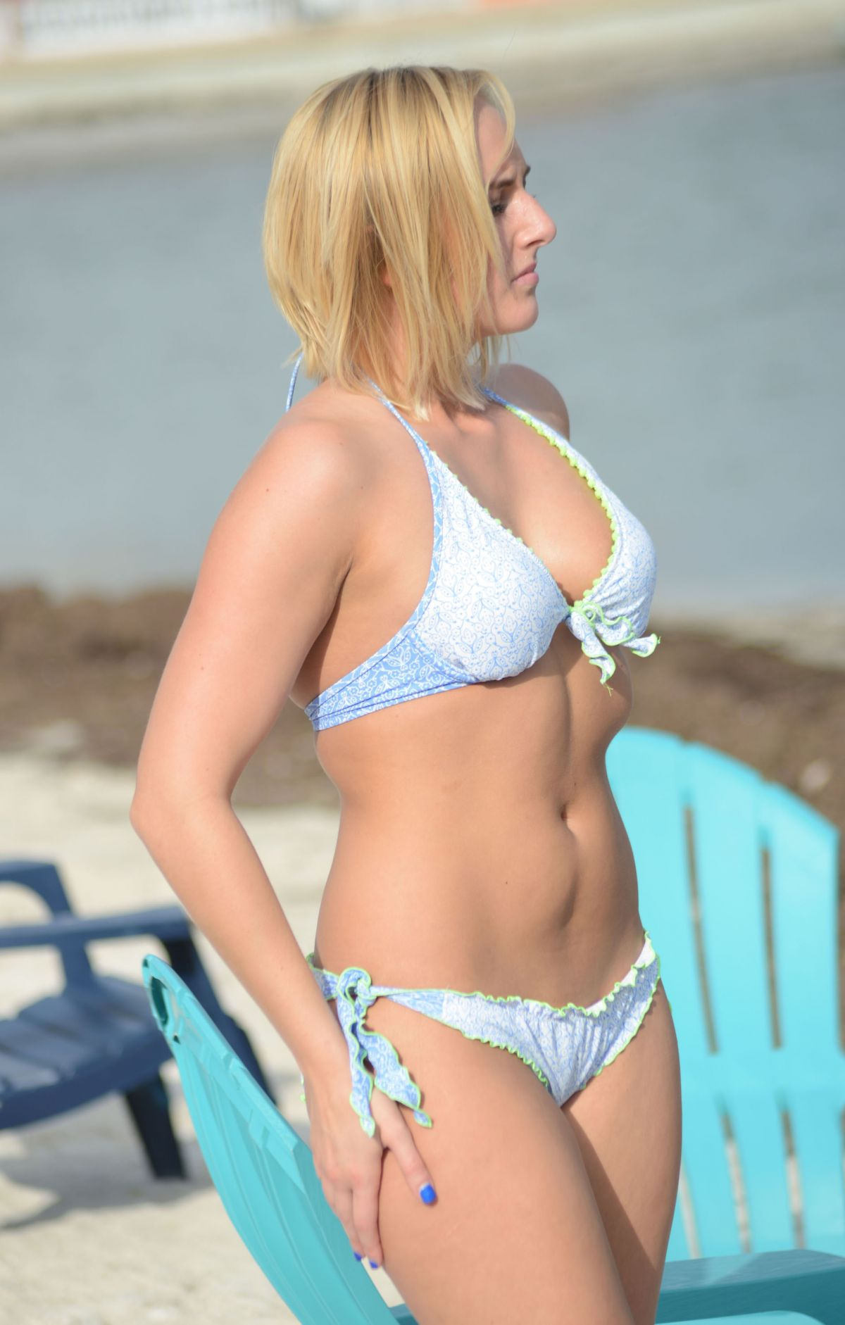 KATE ENGLAND in Bikini on the Beach in Miami 07/04/2016