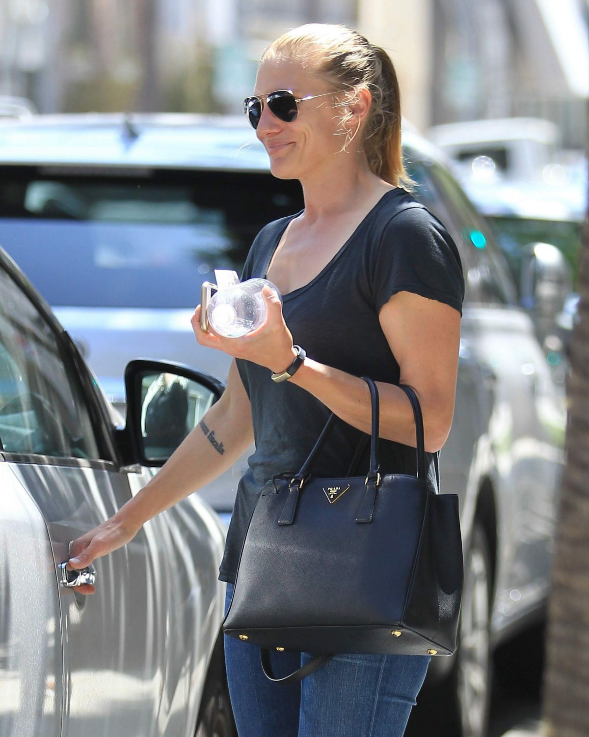 KATE SACKHOFF Out and About in Beverly Hills 07/08/2016