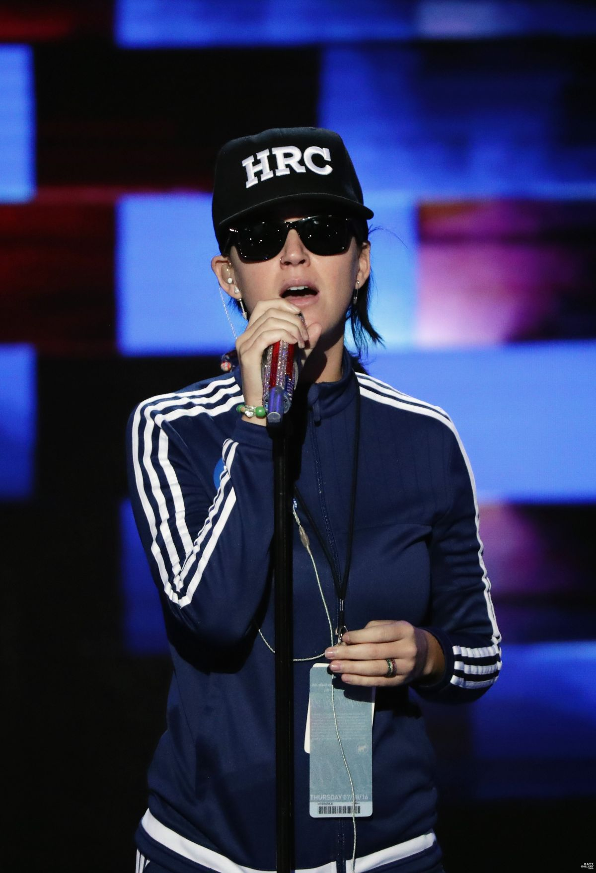 KATY PERRY at Soundcheck at DNC in Philadelphia 07/28/2016