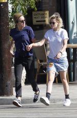 KRISTEN STEWART and ALICIA CARGILE Leaves a Sushi Restaurant in Santa Monica 07/24/2016