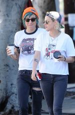 KRISTEN STEWART Kissing ALICIA CARGILE Out in Los Feliz 07/20/1016