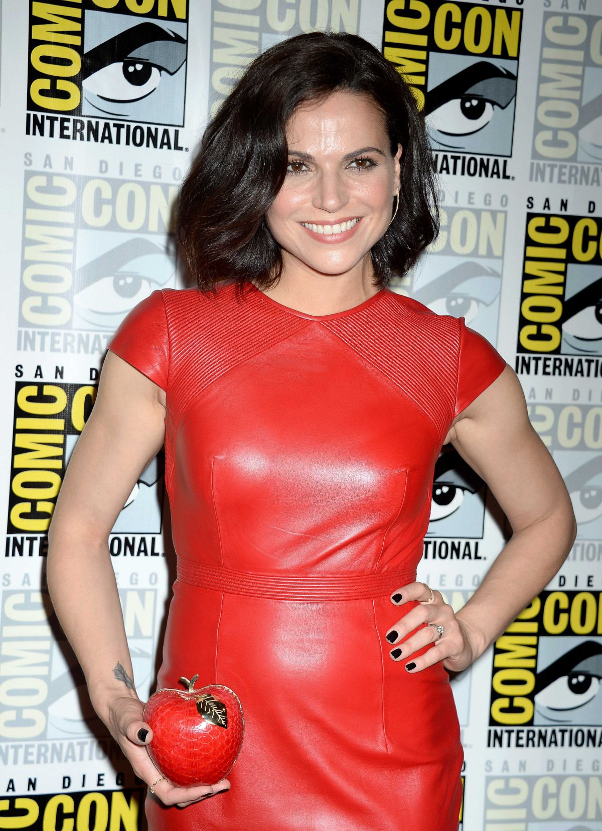 LANA PARRILLA at Once Upon a Time Press Line at Comic-con in San Diego 07/23/2016
