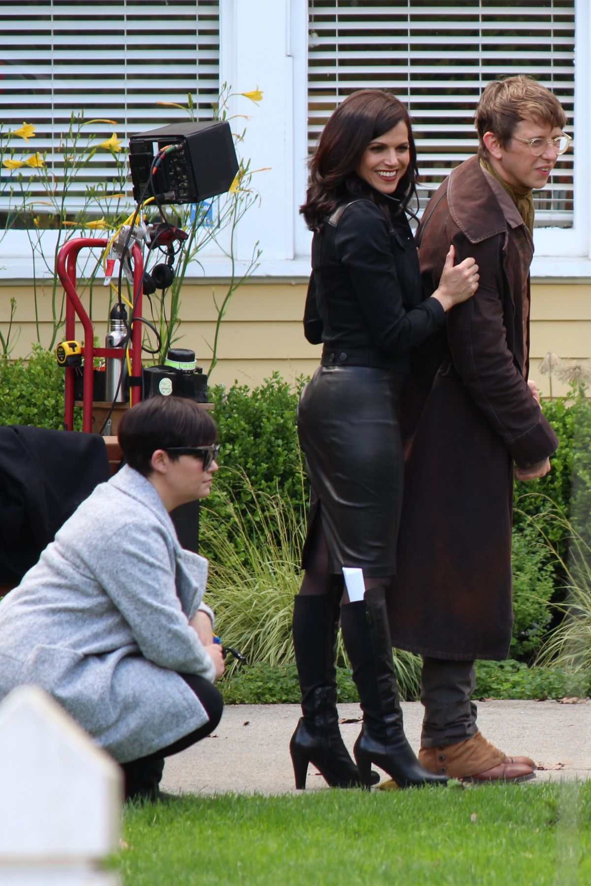 lana parrilla on the set of �once upon a time� in