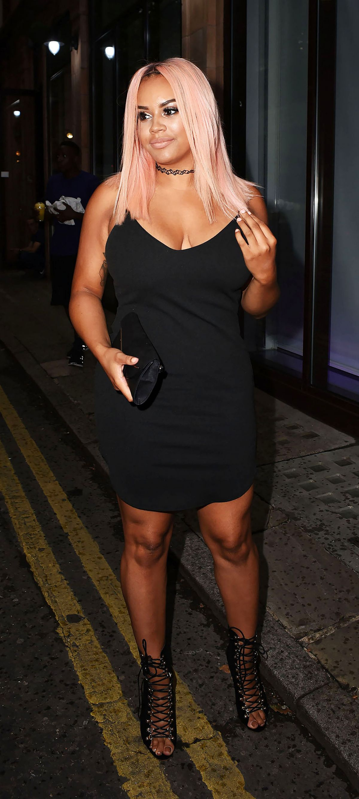 LATEYSHA GRACE at Mark Hill Pick N Mix Party in London 07/27/2016