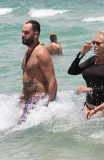 LAUREN FOSTER and <ARYSOL PATTON on the Beach in Miami 0716/2016