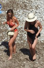 LAUREN POPE and BAMBI HAINES in Bikinis on the Beach in Ibiza 07/02/2016
