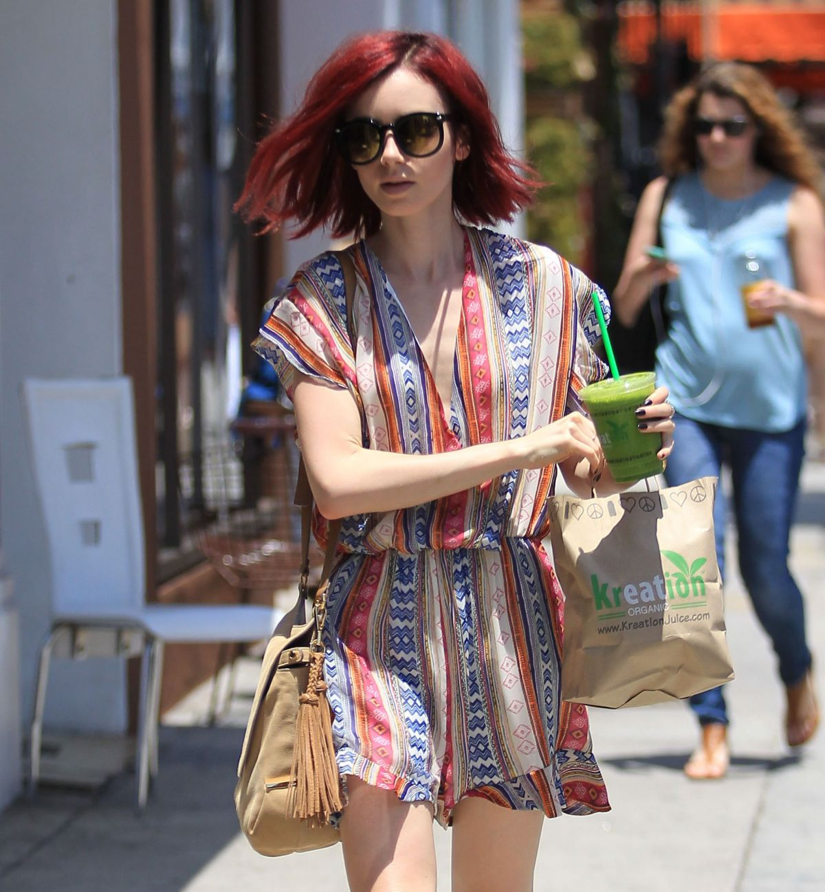 LILY COLLINS Out and About in Beverly Hills 07/01/2016