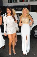 LIZZIE CUNDY and ZARA HOLLAND at Beauty Industry London White Party 2016 in Covent Garden 07/02/2016