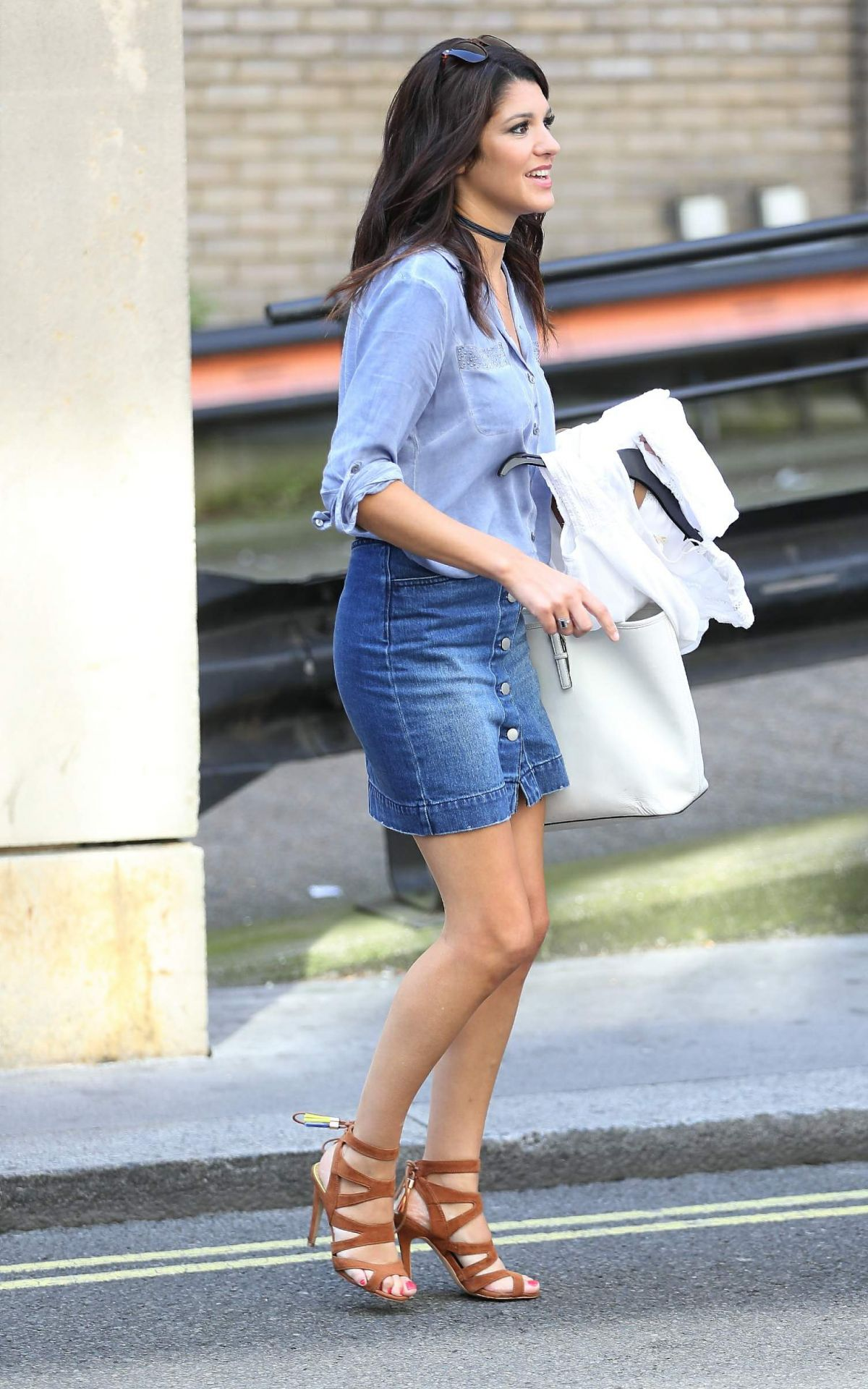 NATALIE ANDERSON Leaves Bayswater Shopping Centre in London 07/23/2016