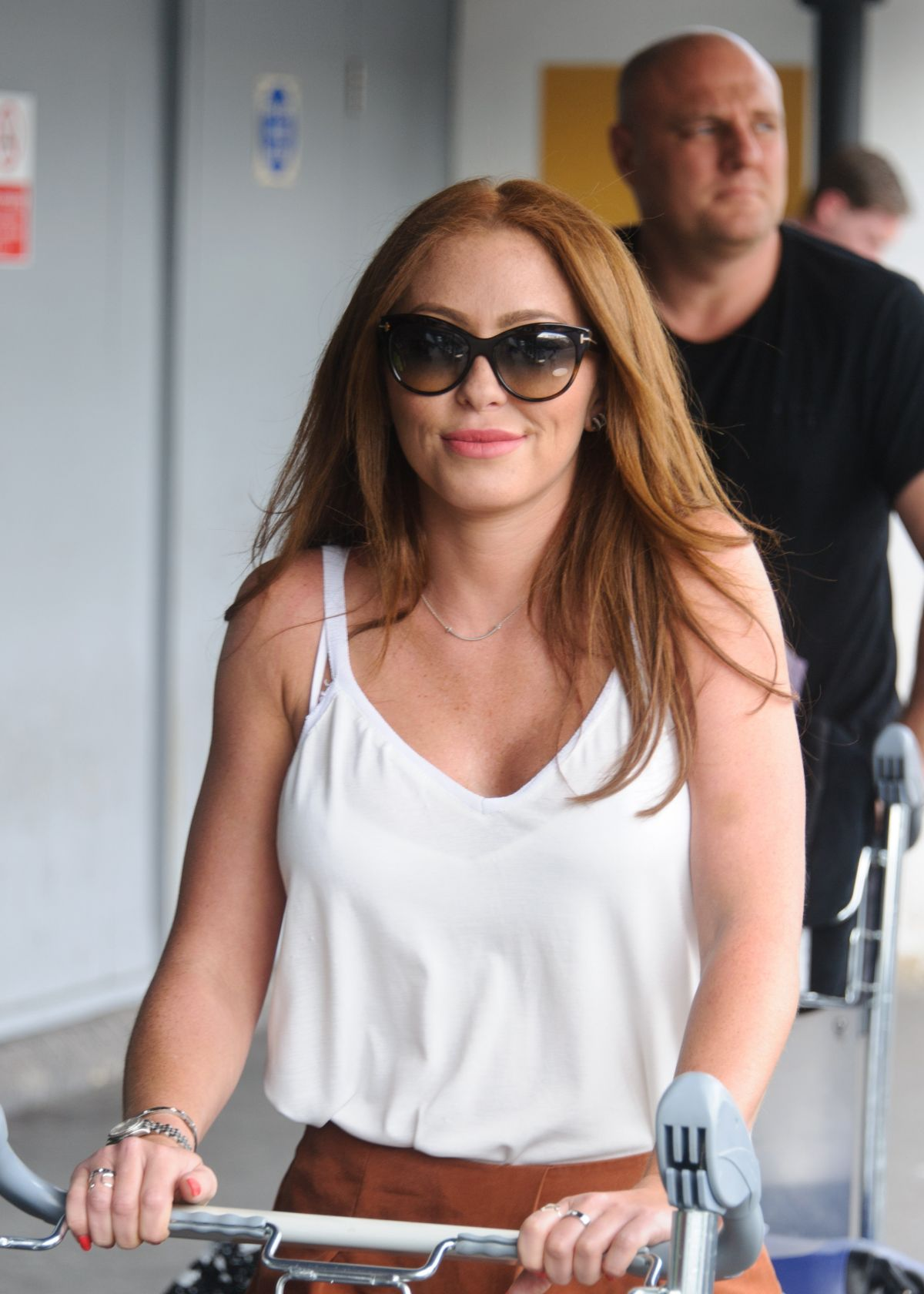 NATASHA HAMILTON at Heathrow Airport in London 07/25/2016
