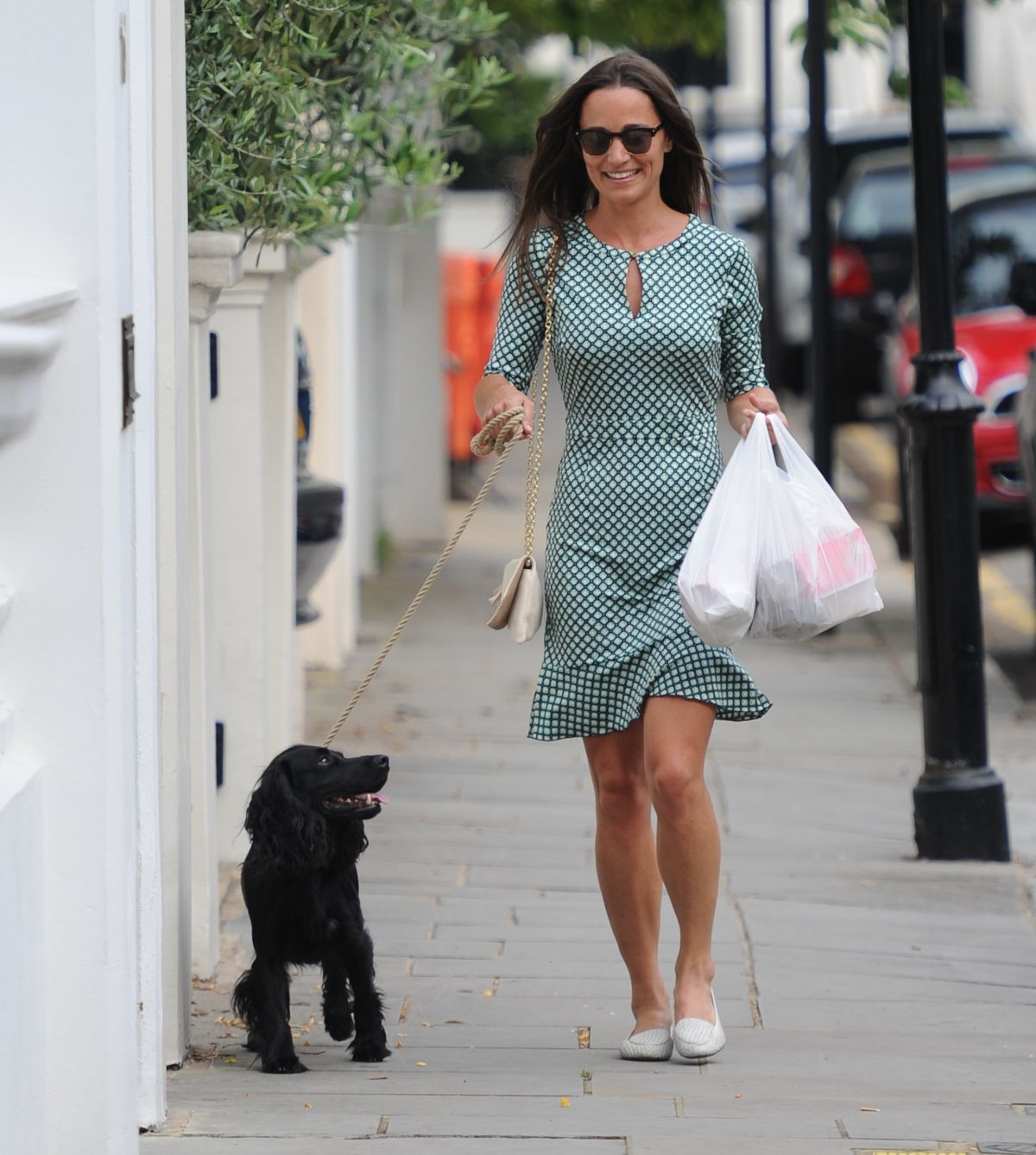 PIPPA MIDDLETON Walks Her Dog Out in London 07/21/2016