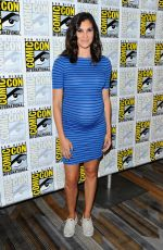 Pregnant DANIELA RUAH at CBS Television Studios Press Line at Comic-con in San Diego 07/21/2016