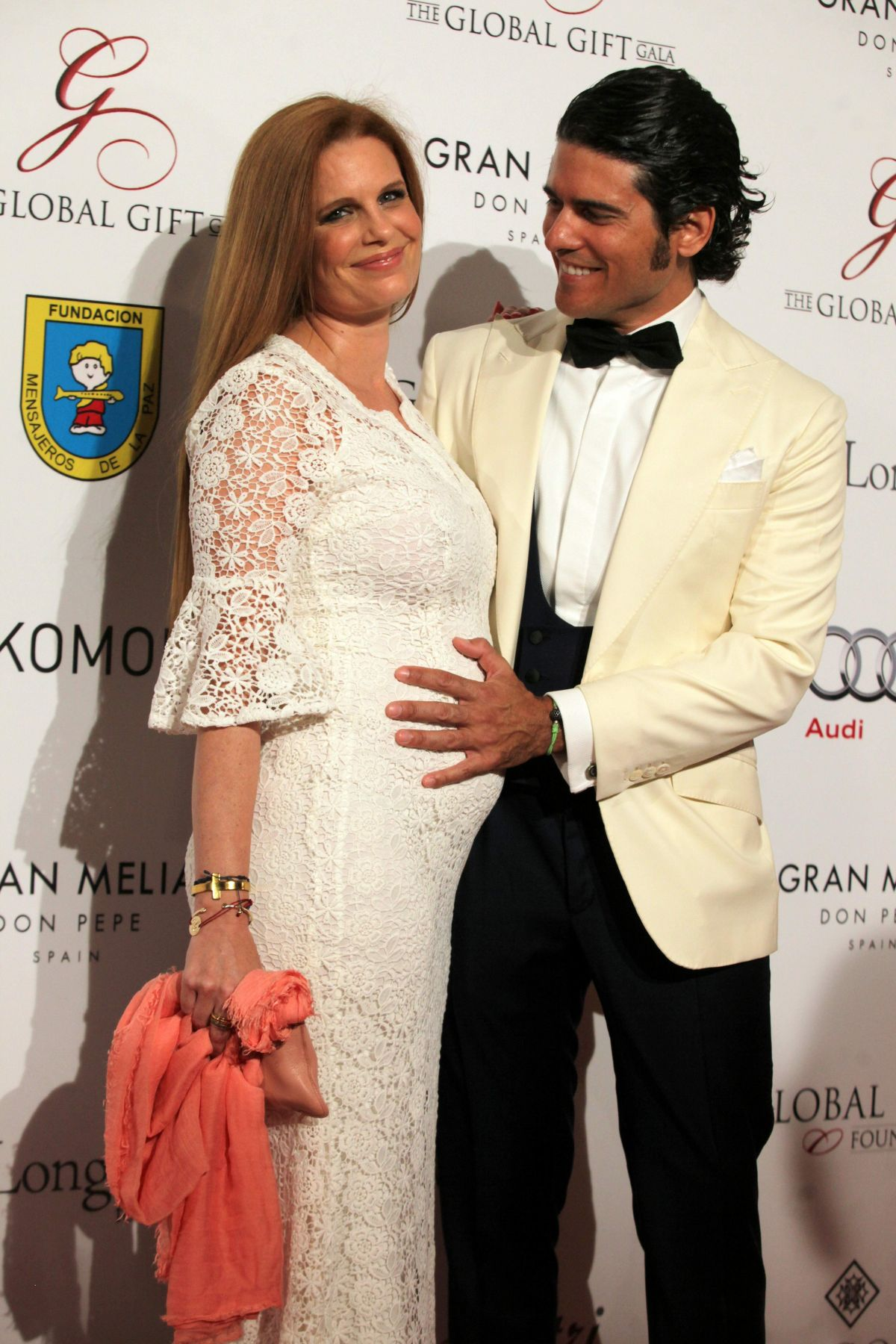 Pregnant OLIVIA DE BORBON at Global Gift Gala 2016 at Gran Melia Don Pepe Resort in Marbella 07/17/2016
