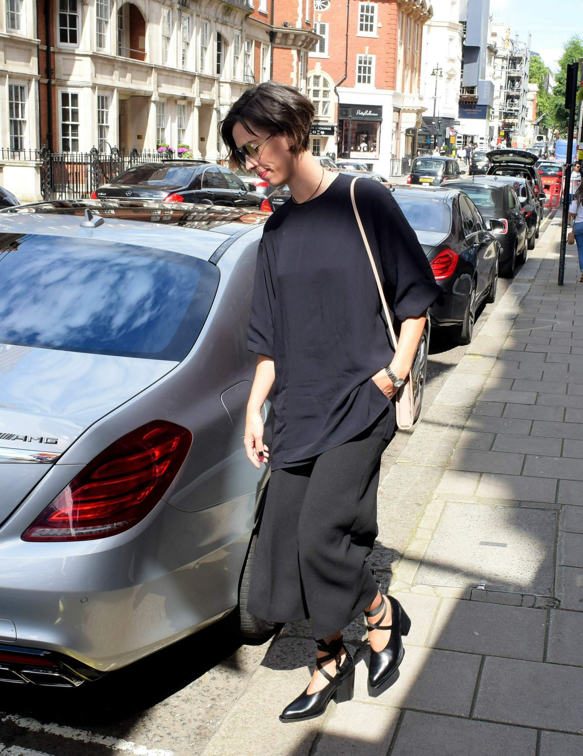 Photo of Rebecca Hall  - car