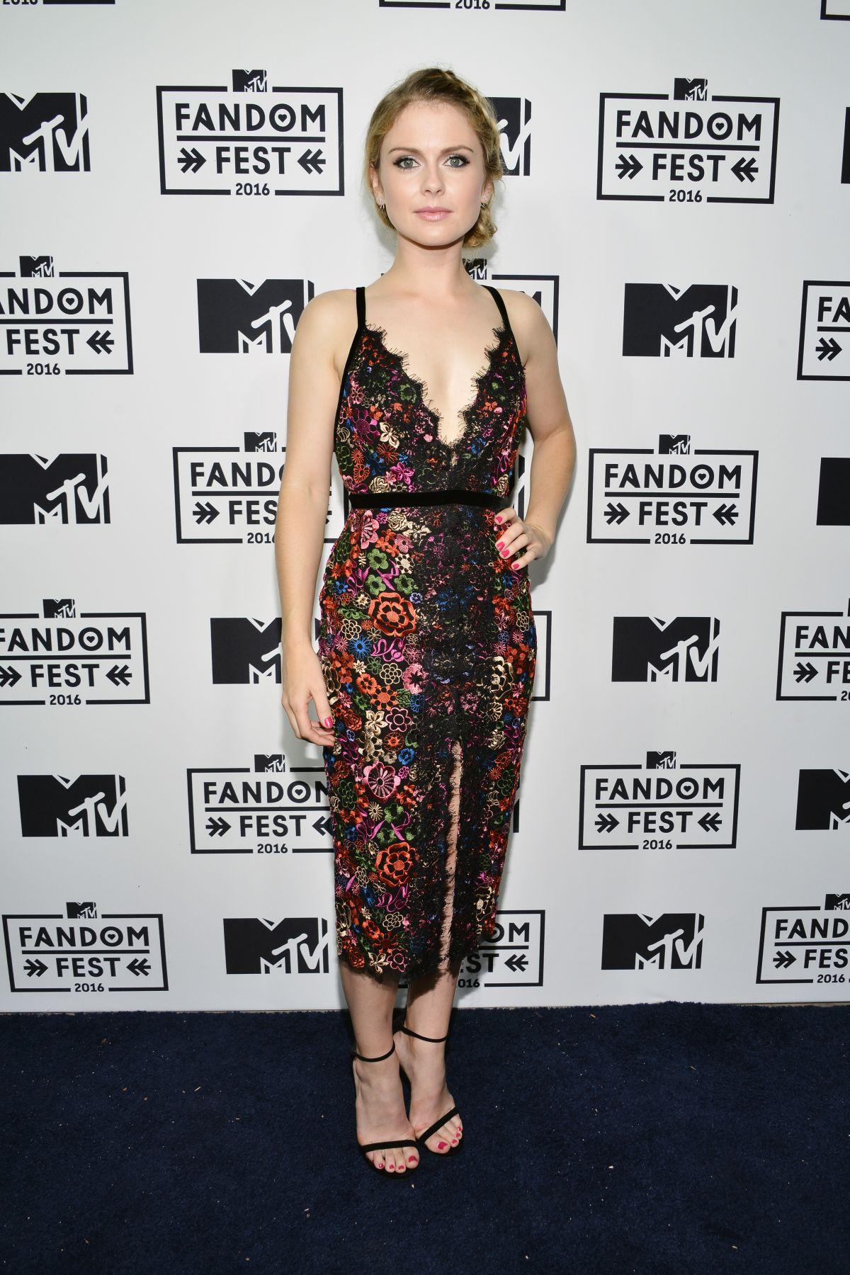 ROSE MCIVER at MTV Fandom Awards in San Diego 07/21/2016
