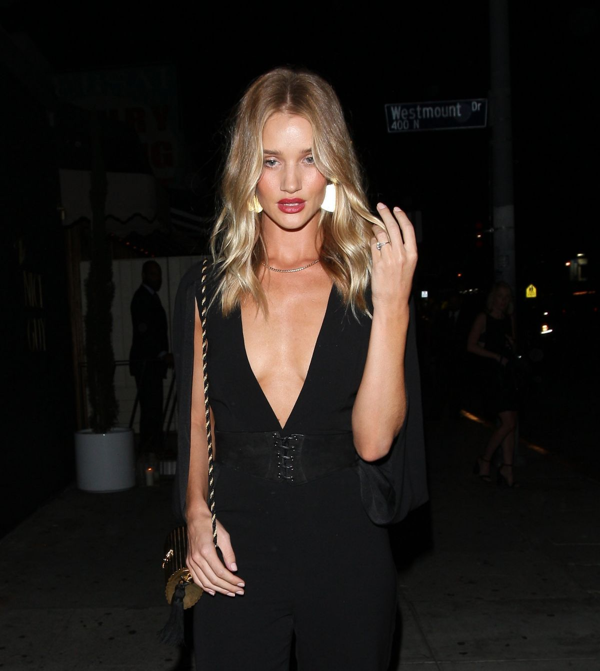 ROSIE HUNTINGTON-WHITELEY at Nice Guy in West Hollywood 07/01/2016 Rosie Huntington Whiteley