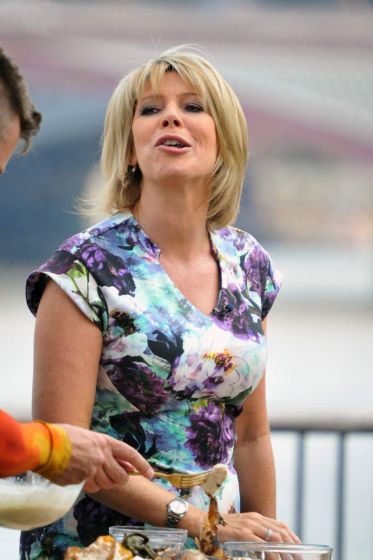 RUTH LANGSFORD on the Set f This Morning Show in London 07/21/2016