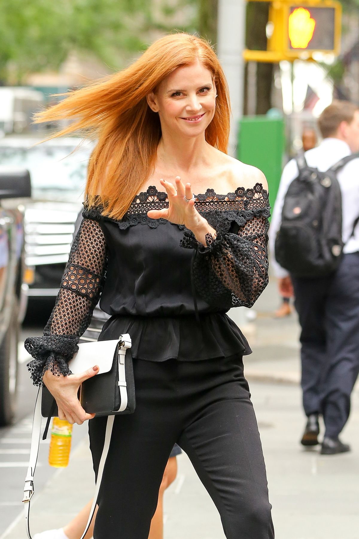 SARAH RAFFERTY Arrives at Thoday Show in New York 07/14/2016