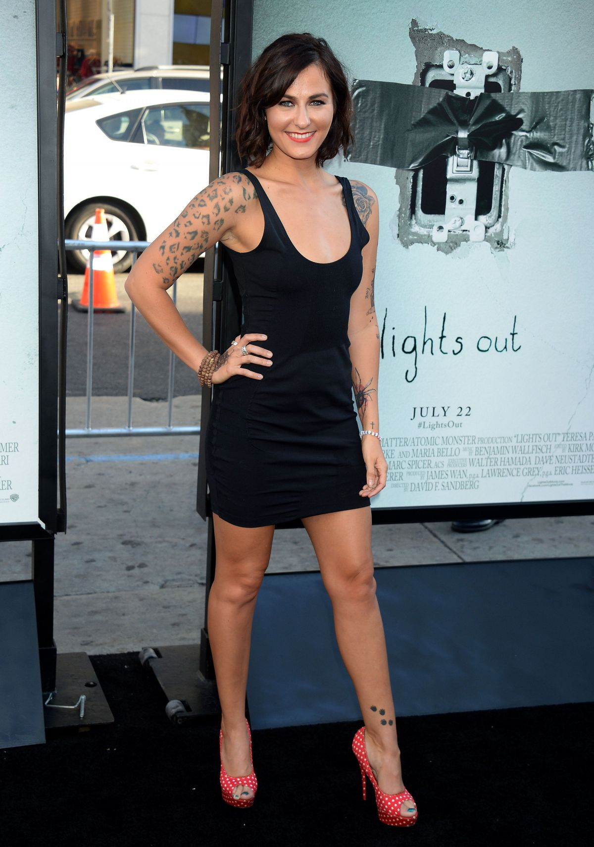 SCOUT TAYLOR COMPTON at Lights Out Premiere in Los Angeles 07/19/2016