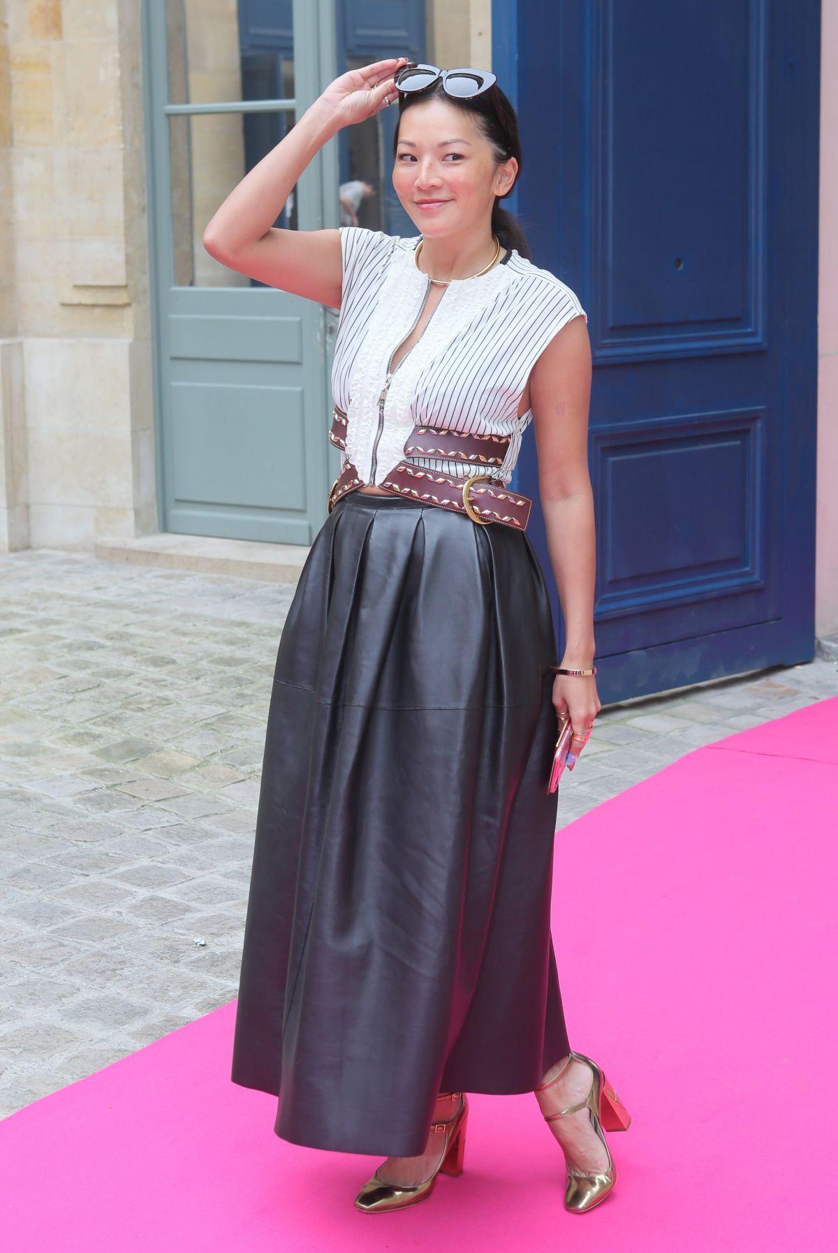 TINA LEUNG at Schiaparelli Haute-couture Fashion Show in Paris 07/04/2016