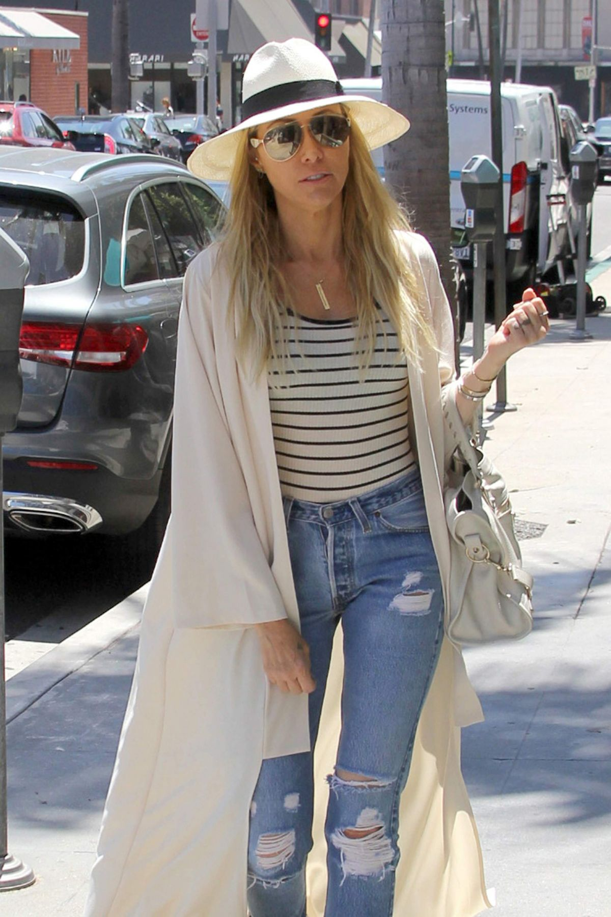 TISH CYRUS Out and About in Camden 07/25/2016