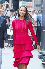 ZOE SALDANA Arrives at Good Morning America in New York 07/18/2016