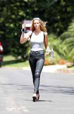 ABBY CHAMPION Out and About in Los Angeles 08/05/2016