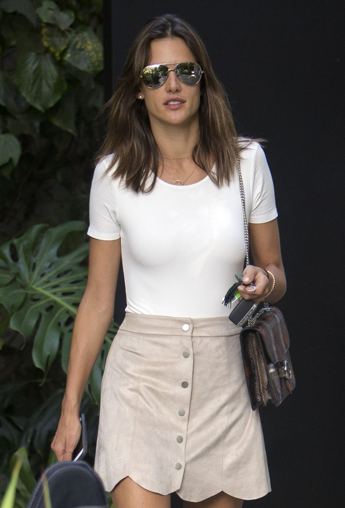ALESSANDRA AMBROSIO in Skirt Out in West Hollywood | Stunning Actress