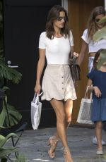 ALESSANDRA AMBROSIO in Skirt Out in West Hollywood 08/22/2016