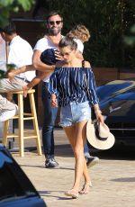 ALESSANDRA AMBROSIO Leaves Soho House in Malibu 08/28/2016