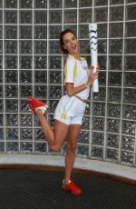 ALESSANDRA AMBROSIO Posing with the Olympic Torch in Rio De Janeiro, 08/052016