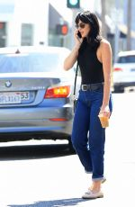 ALI LOHAN in Jeans Out in Beverly Hills 08/18/2016