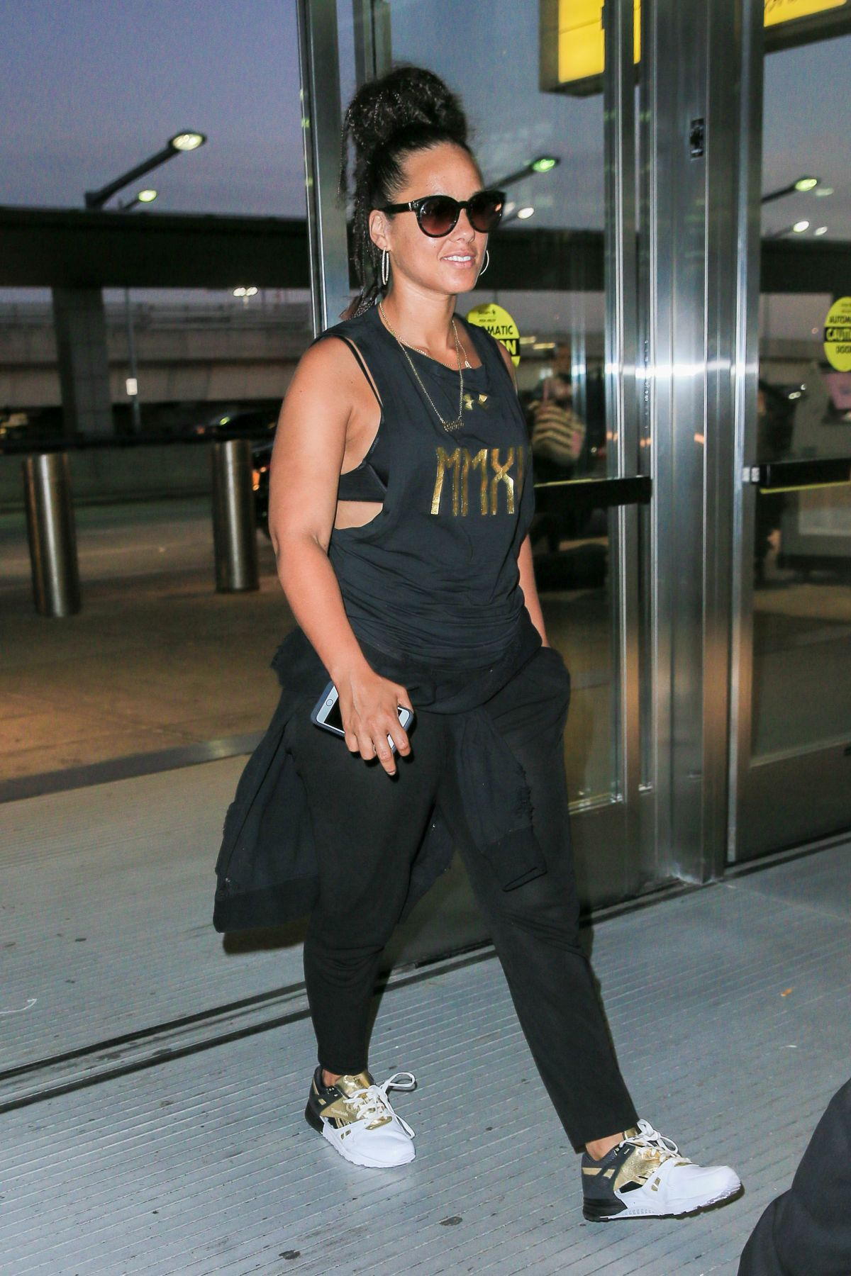 ALICIA KEYS at JFK Airport in New York 08/29/2016 ... Alicia Keys New York
