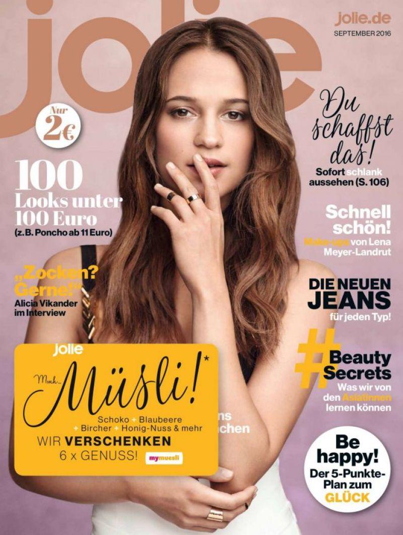 Jolie Magazine November 2017 Issue: ALICIA VIKANDER In Jolie Magazine, September 2016 Issue