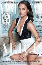 ALICIA VIKANDER in Vanity Fair Magazine, September 2016 Issue