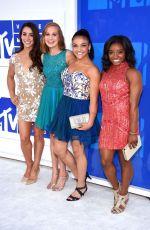 ALY RAISMAN, MADISON KOCIAN, LAURIE HERNANDEZ and SIMONE BILES at 2016 MTV Video Music Awards in New York 08/28/2016